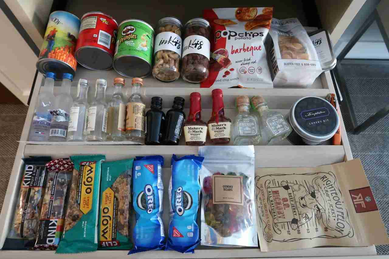 Extensive mini bar selection.