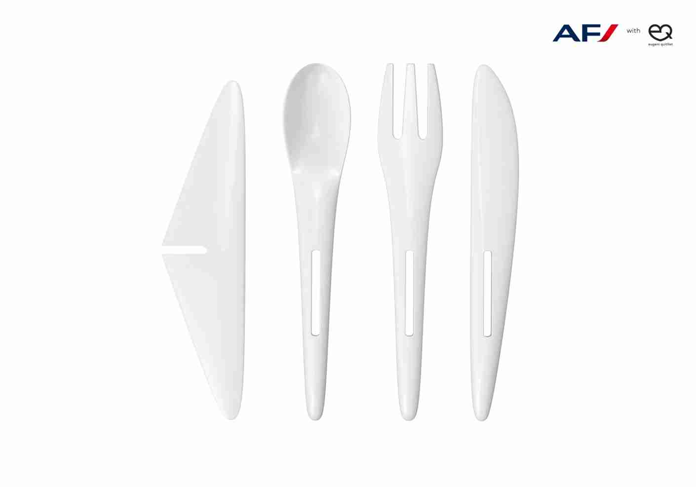 Quitllet designed silverware that, in addition to being lighter, can be turned into toy airplanes. Image courtesy of Eugeni Quitllet.