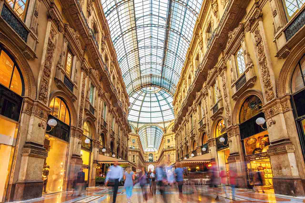 Pay a visit to the beautiful Galleria Vittorio Emanuele II next time you