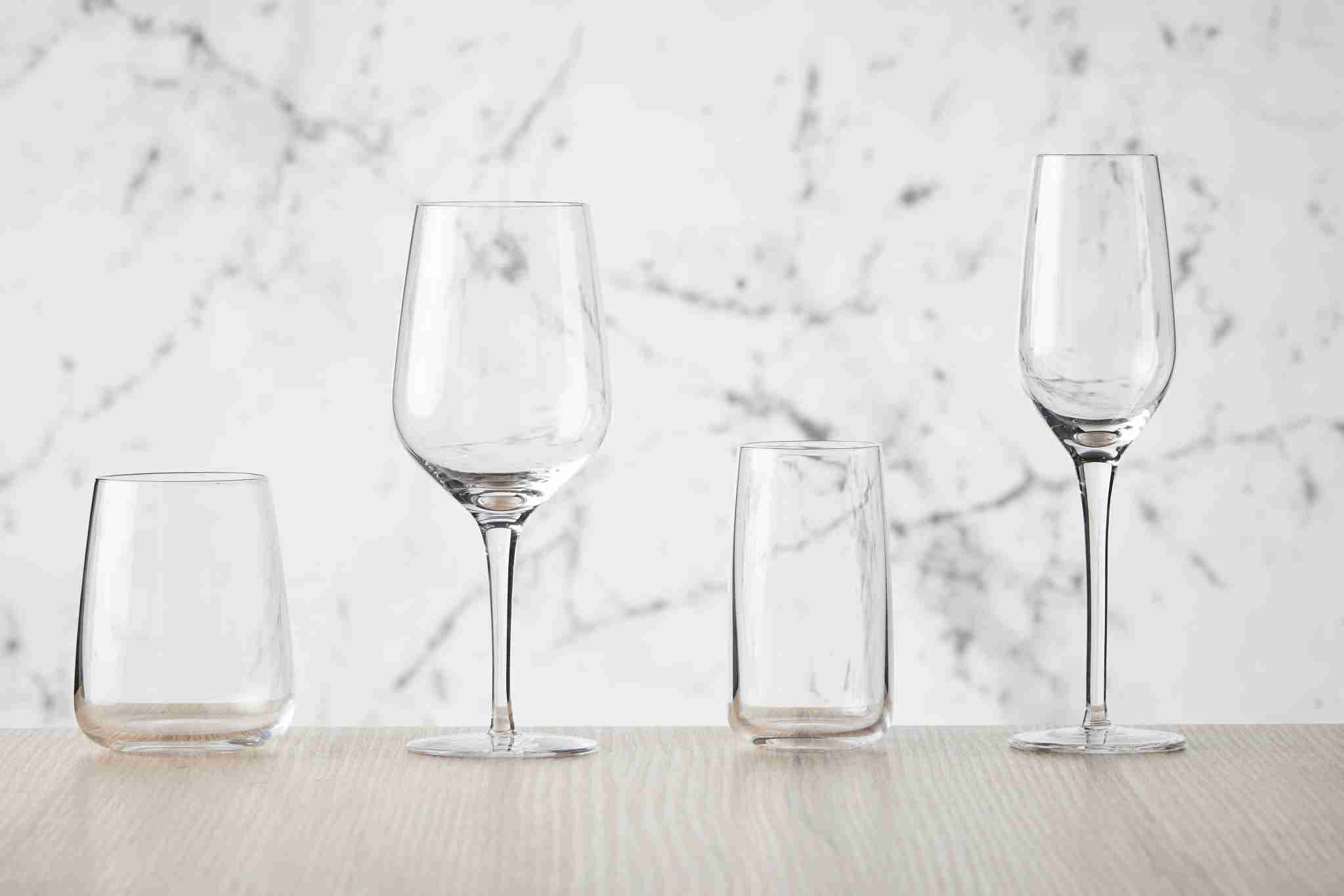 The redesign included a new line of wine glasses. Image courtesy of Qantas.