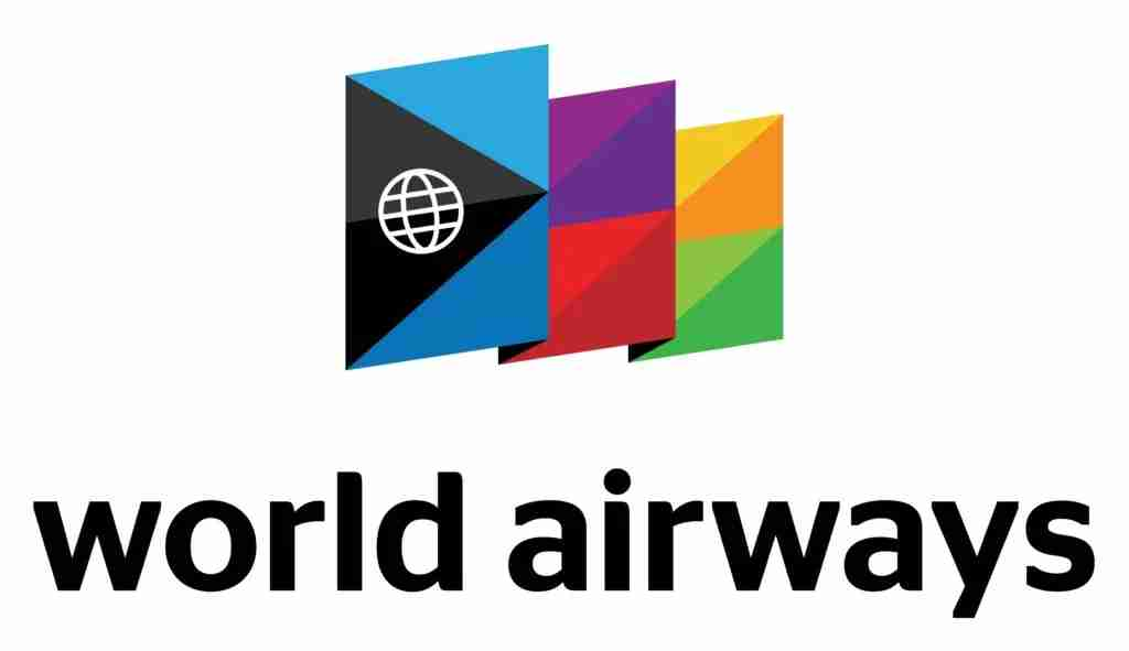 The new World Airways logo pays homage to the original airline