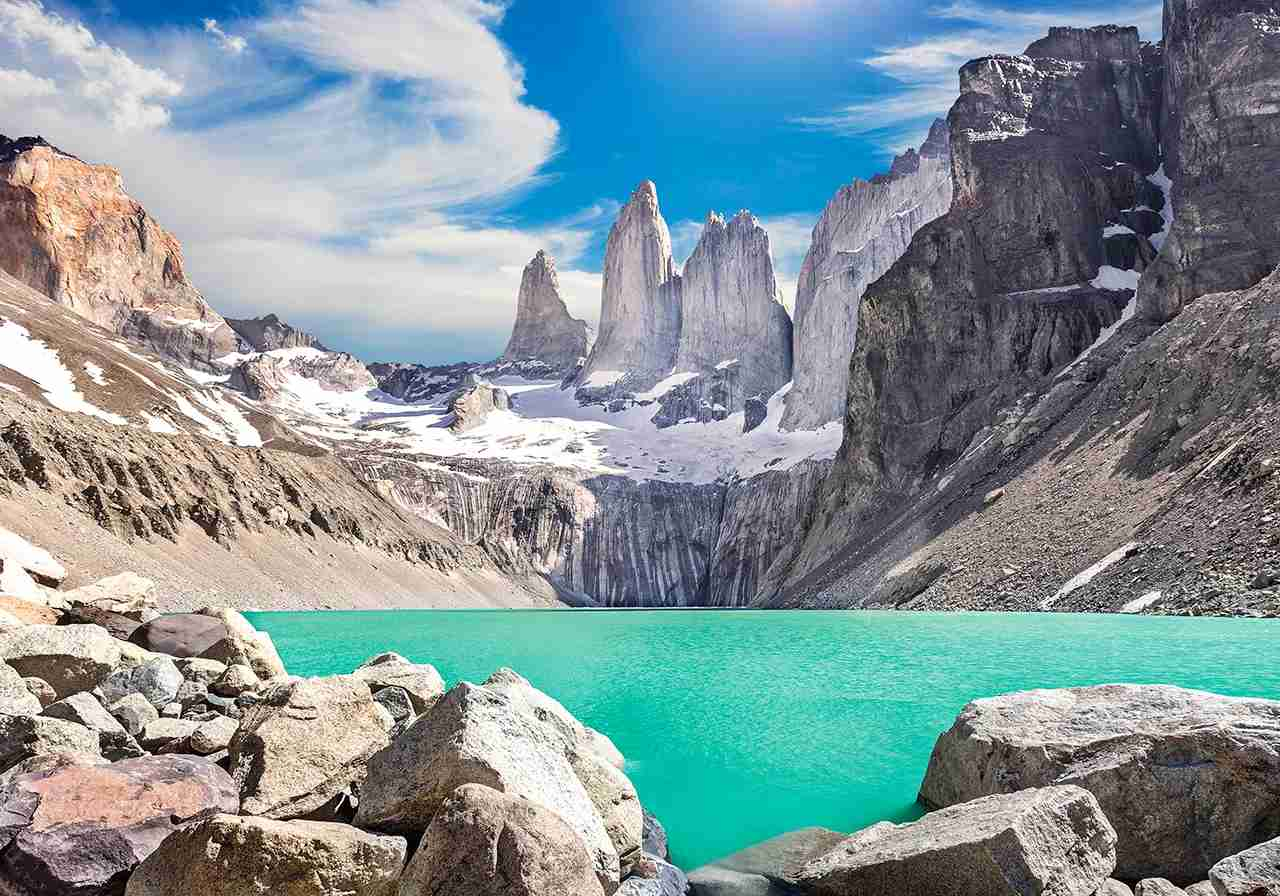 Torres del Paine mountains, Patagonia, Chile. (Photo by MBPROJEKT_Maciej_Bledowski / Getty Images)
