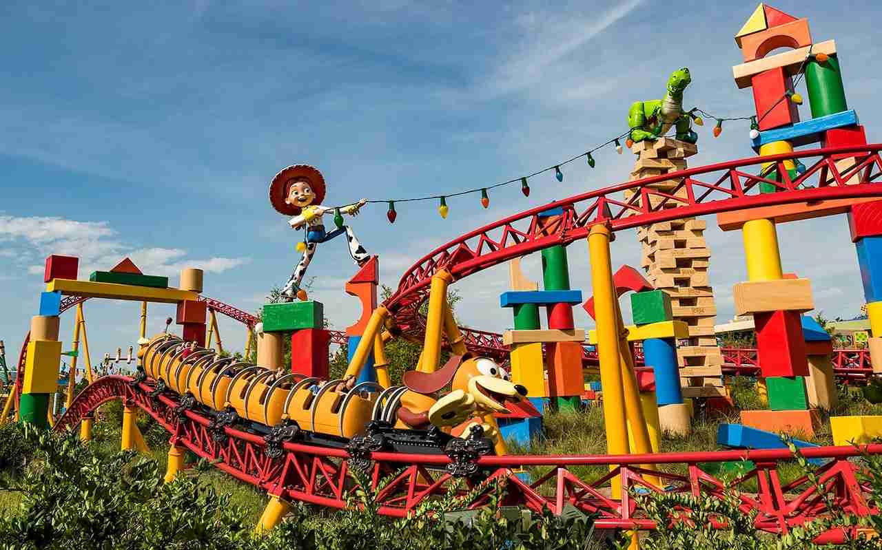 Slinky Dog Dash in the new Toy Story Land (Photo by Matt Stroshane/Disney)