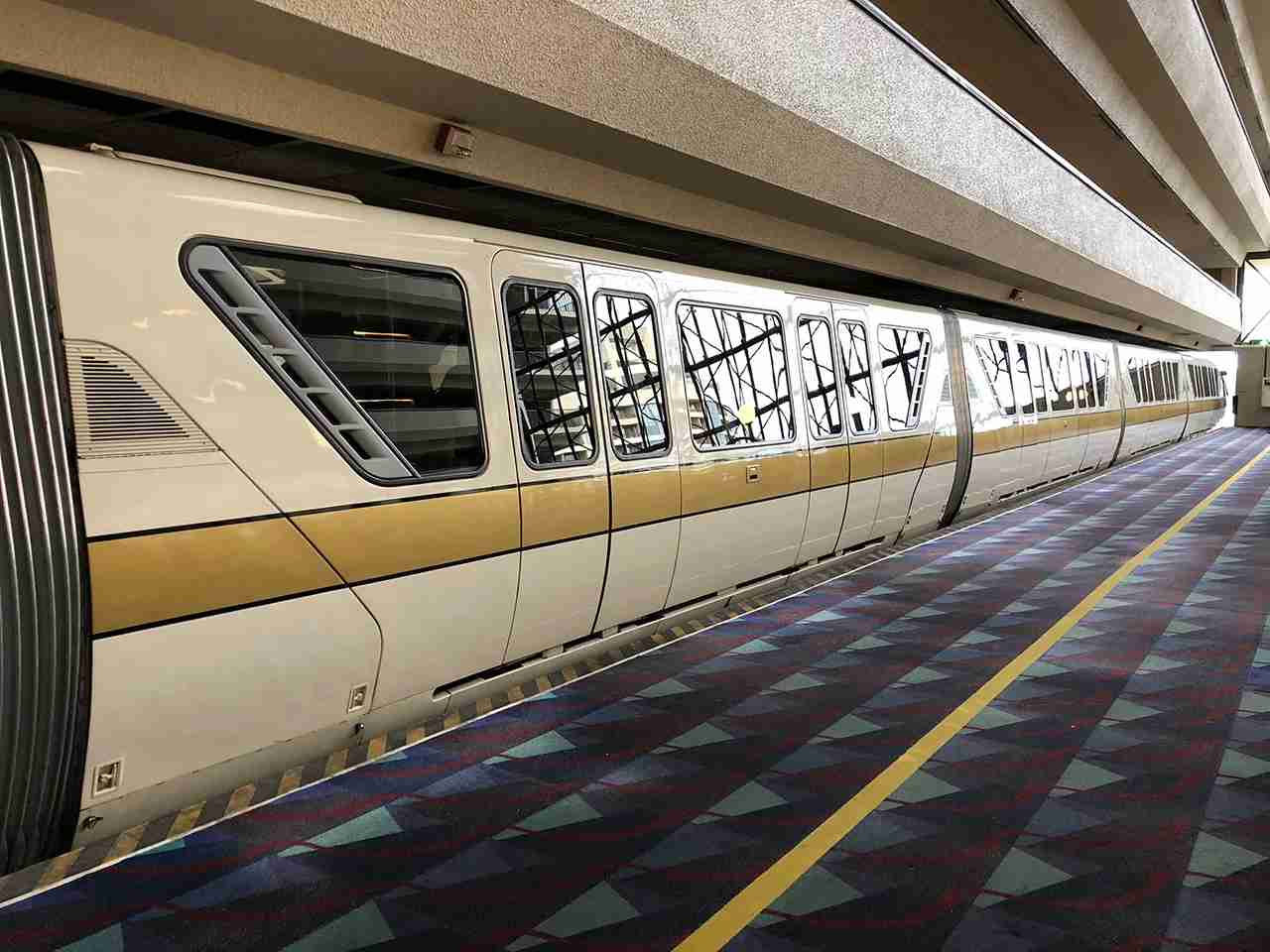 Take the monorail from the Contemporary to the Magic Kingdom