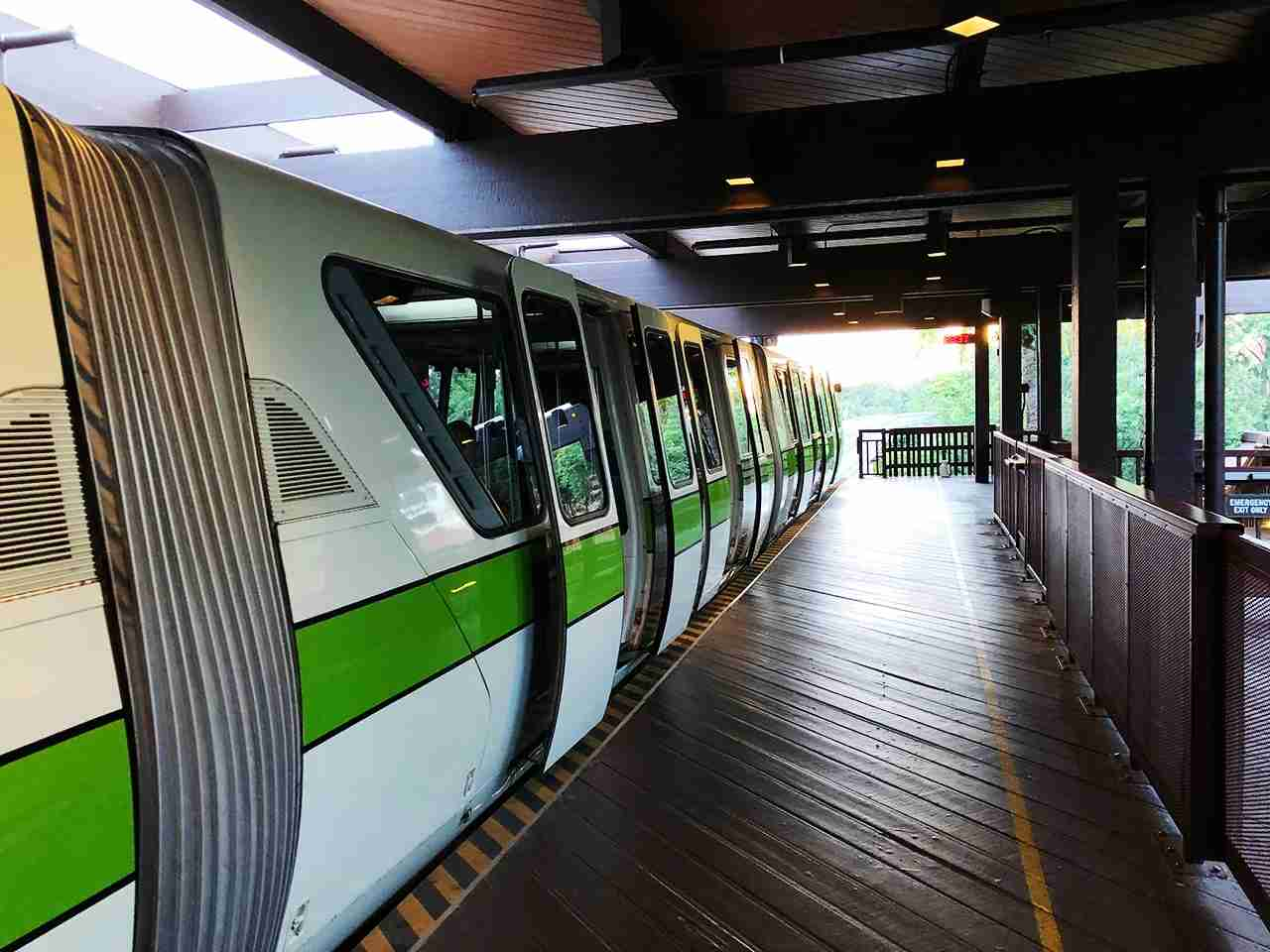 Quick monorail stop at the Polynesian heading to the Magic Kingdom