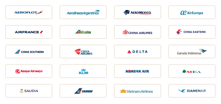 The 20 current SkyTeam airlines.