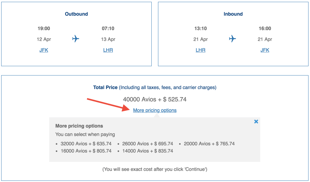 Finding the Sweet Spots With Avios & Money Rewards - The Points Guy