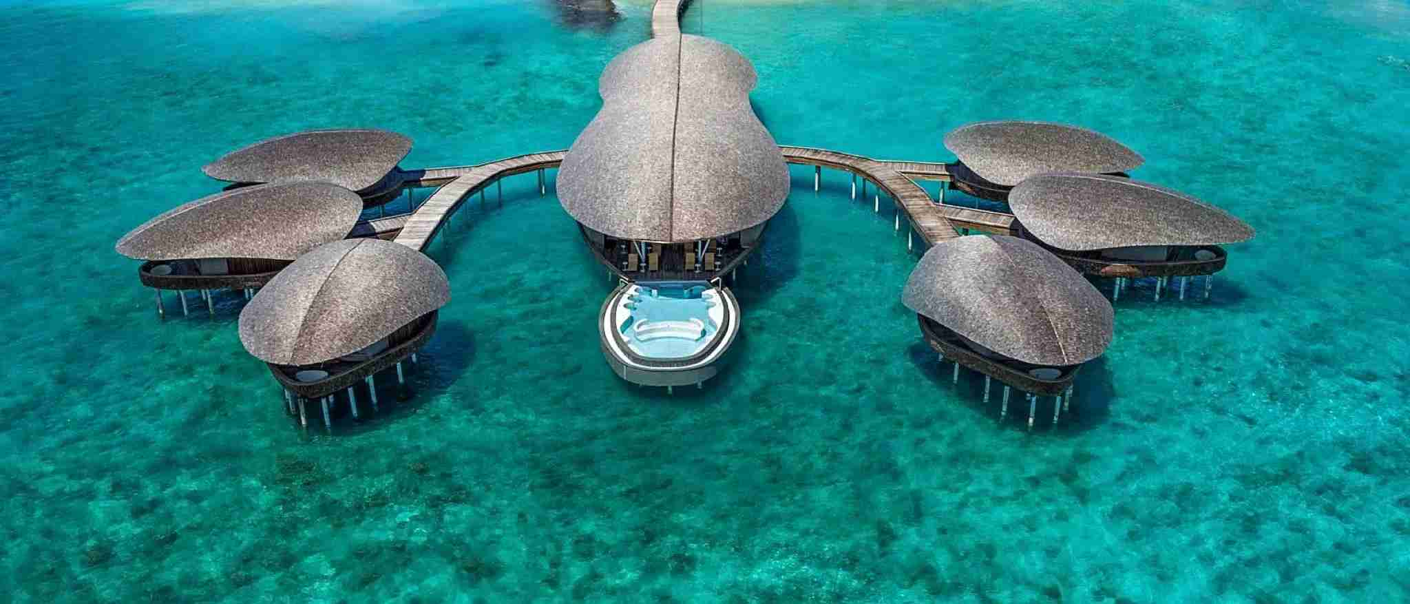The overwater spa at the St. Regis Maldives. Image courtesy of St. Regis Maldives.