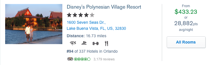 Historically you could book Disney Resorts online using Chase points