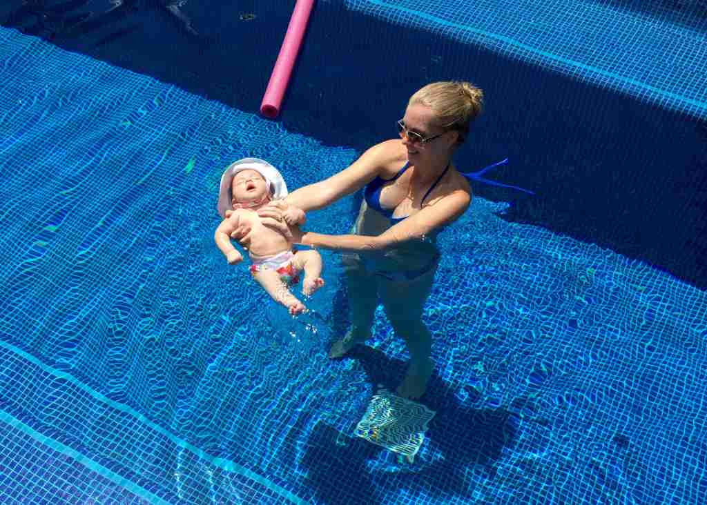 More baby swim time