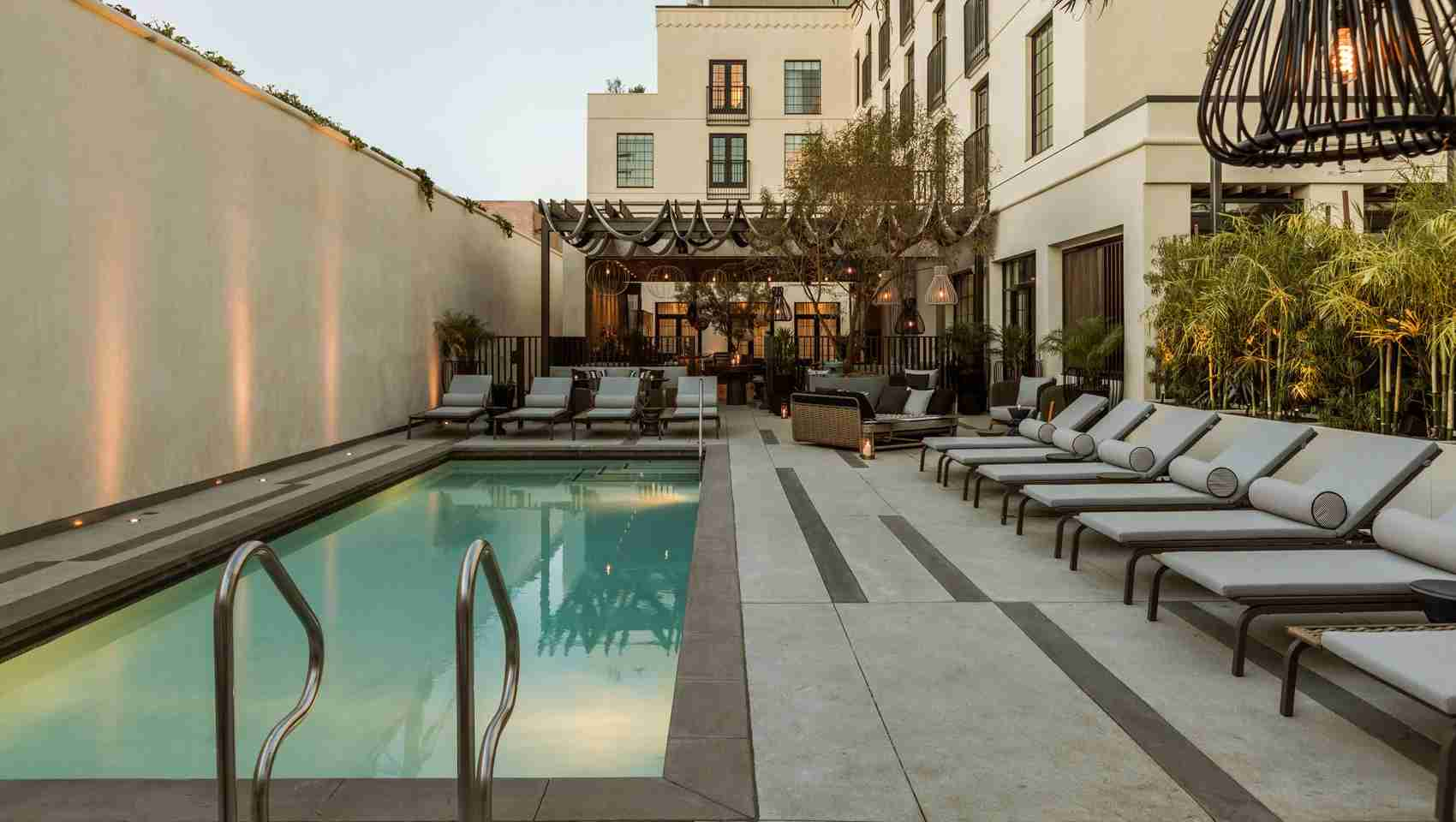 The pool at the Kimpton La Peer. Photo courtesy of the Kimpton La Peer.
