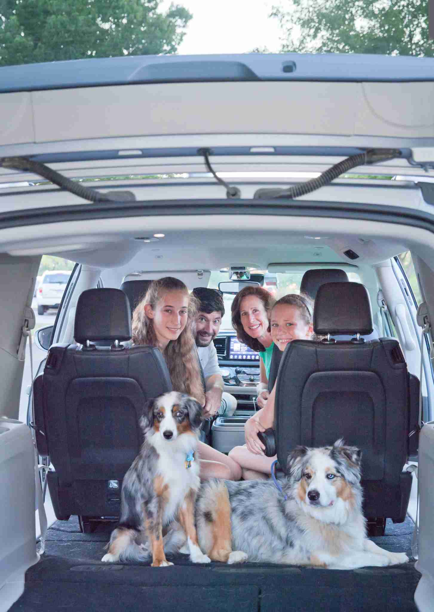 The family loaded up and ready for an adventure (Photo by Andrea Bacle Photography)