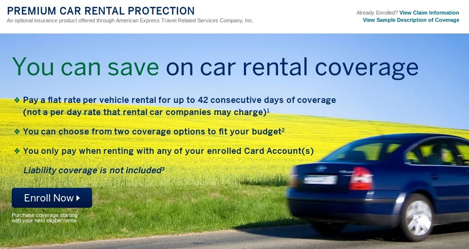 American Express Car Rental Insurance When To Use How To Get It