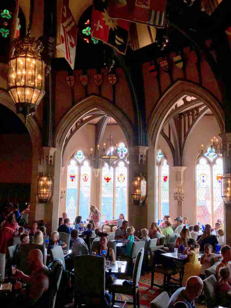 Dining in Cinderella Castle will require two dining credits