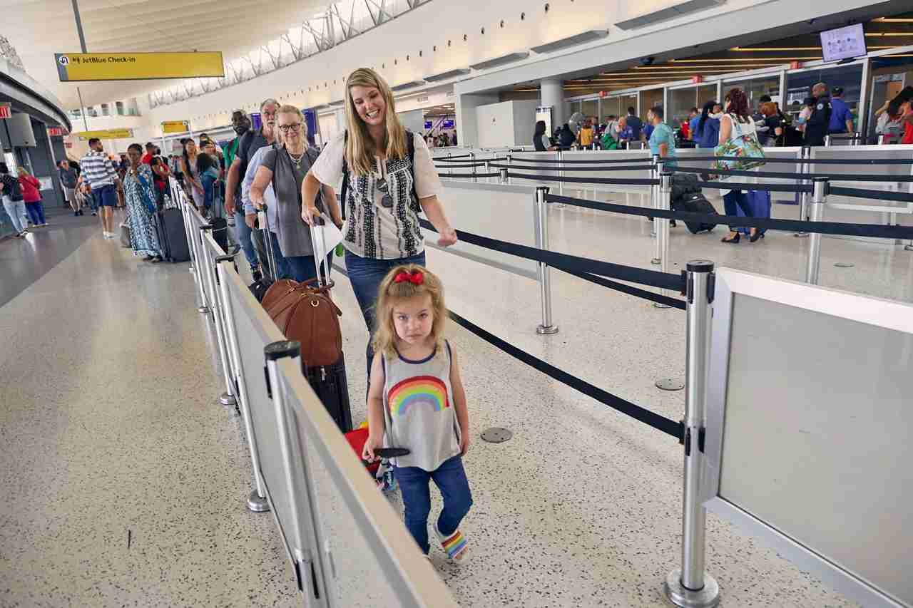 Get your family through the airport and to the lounge