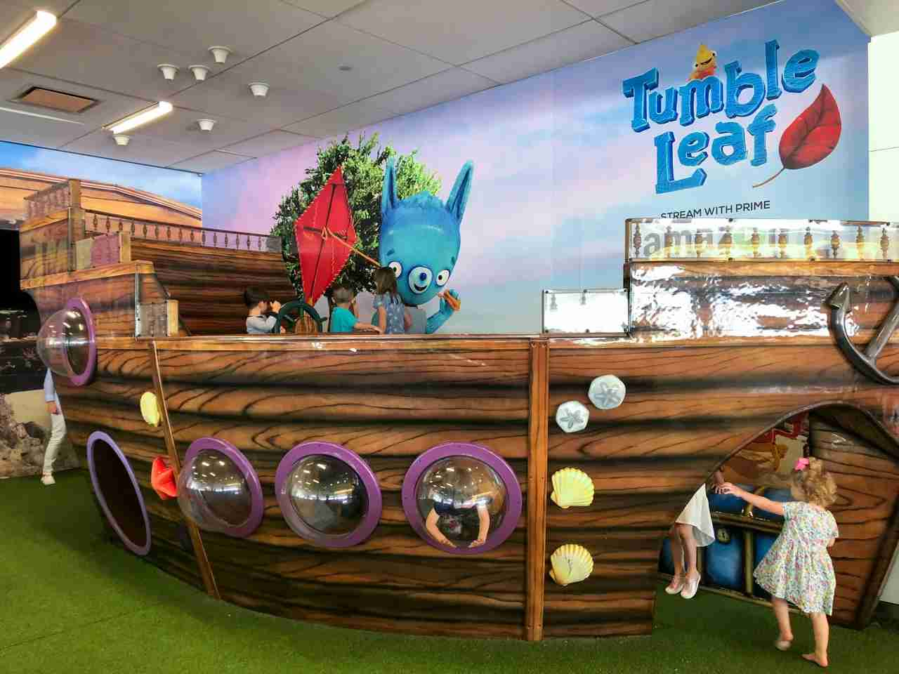 Utilize airport play areas when you can find them