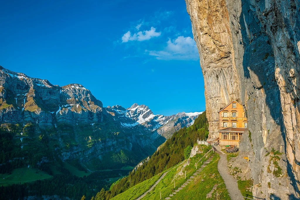 The Owners of This Historic Restaurant Built Into the Alps Are Selling It