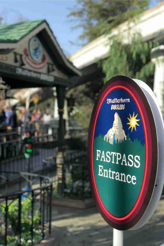 Disneyland Matterhorn Fastpass Entrance