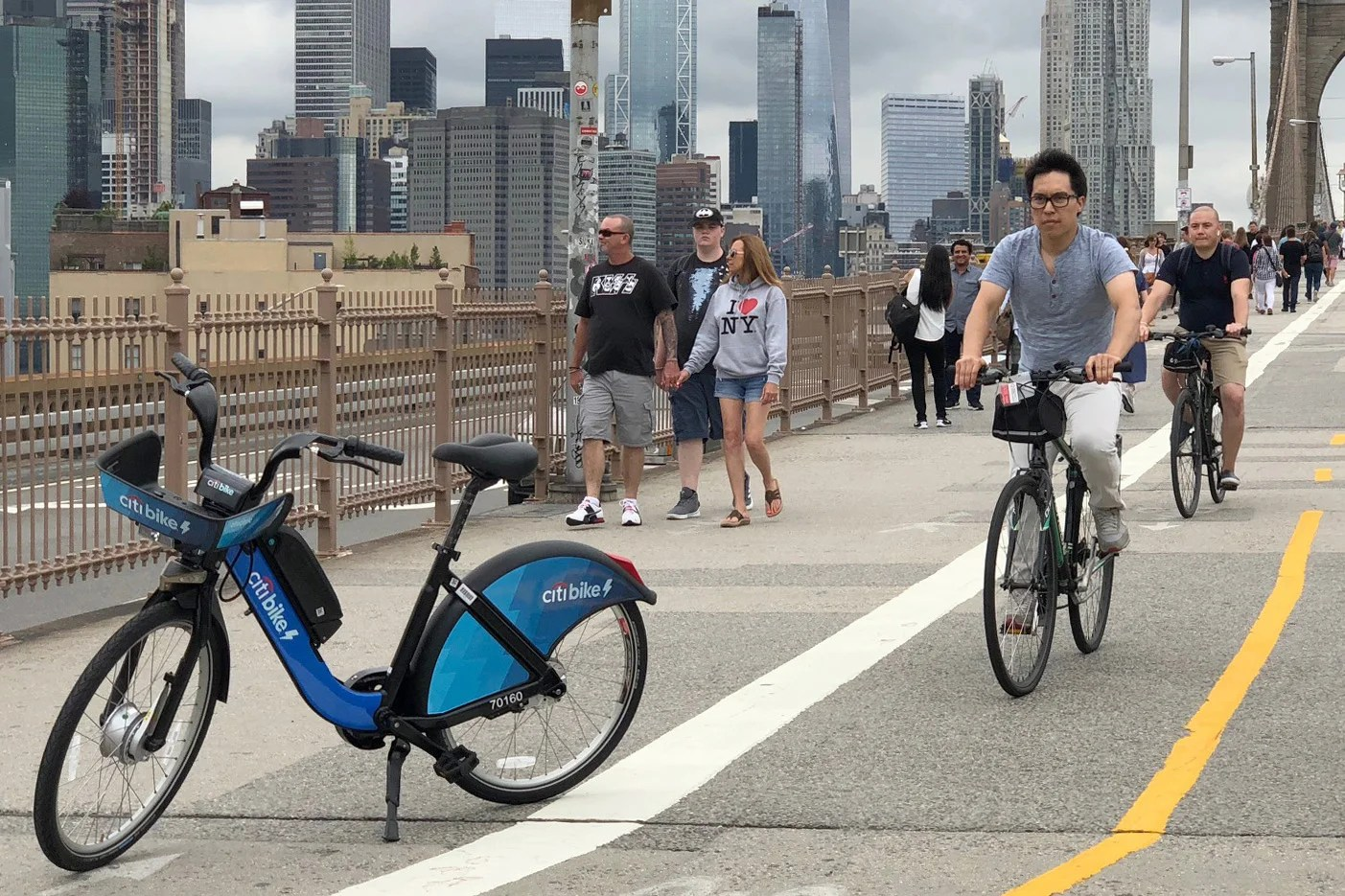 Riding An Electric Citi Bike Across The Brooklyn Bridge
