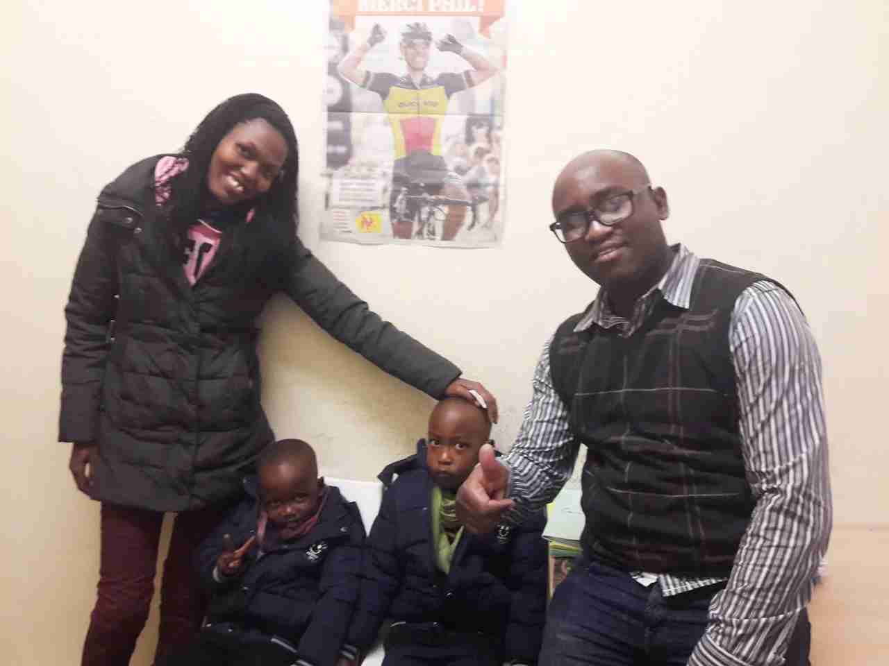 Janvier, who fled Burundi after war broke out, was reunited with his wife and 2 children, who were 3 years and 5 months old at that time they were separated.