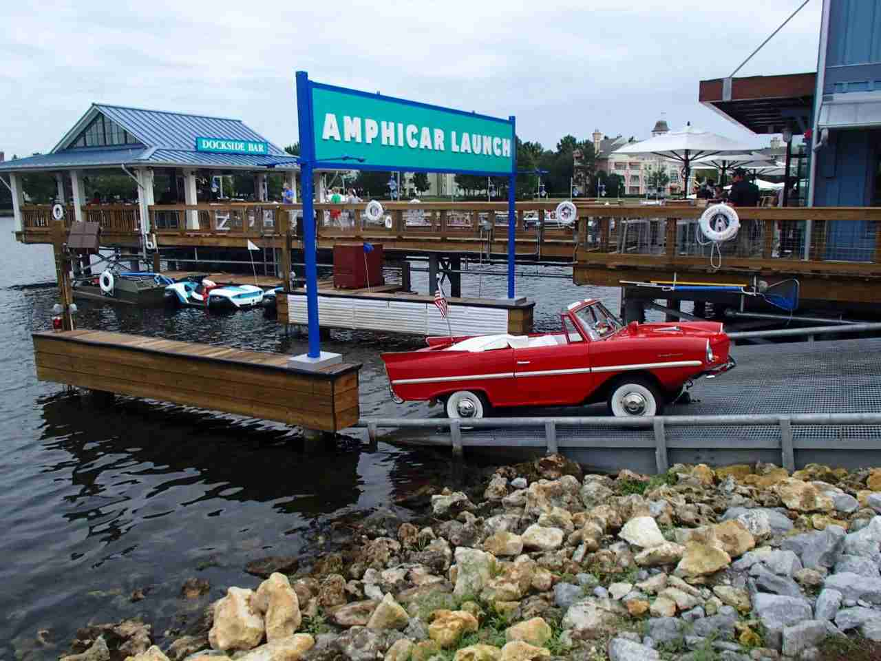 Amphicar from the Boathouse at Disney Springs by AndGeorgeMakes4 Studios/Flickr