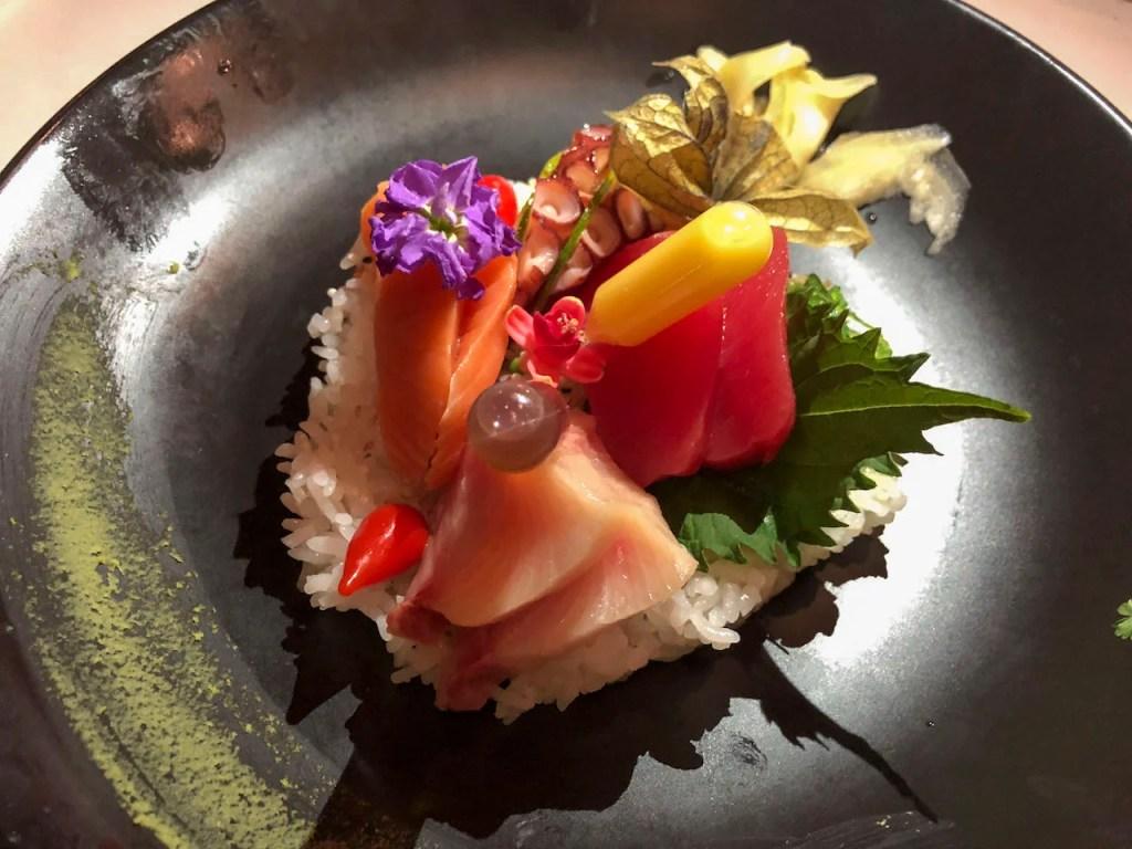 Protein-filled sashimi at Disney