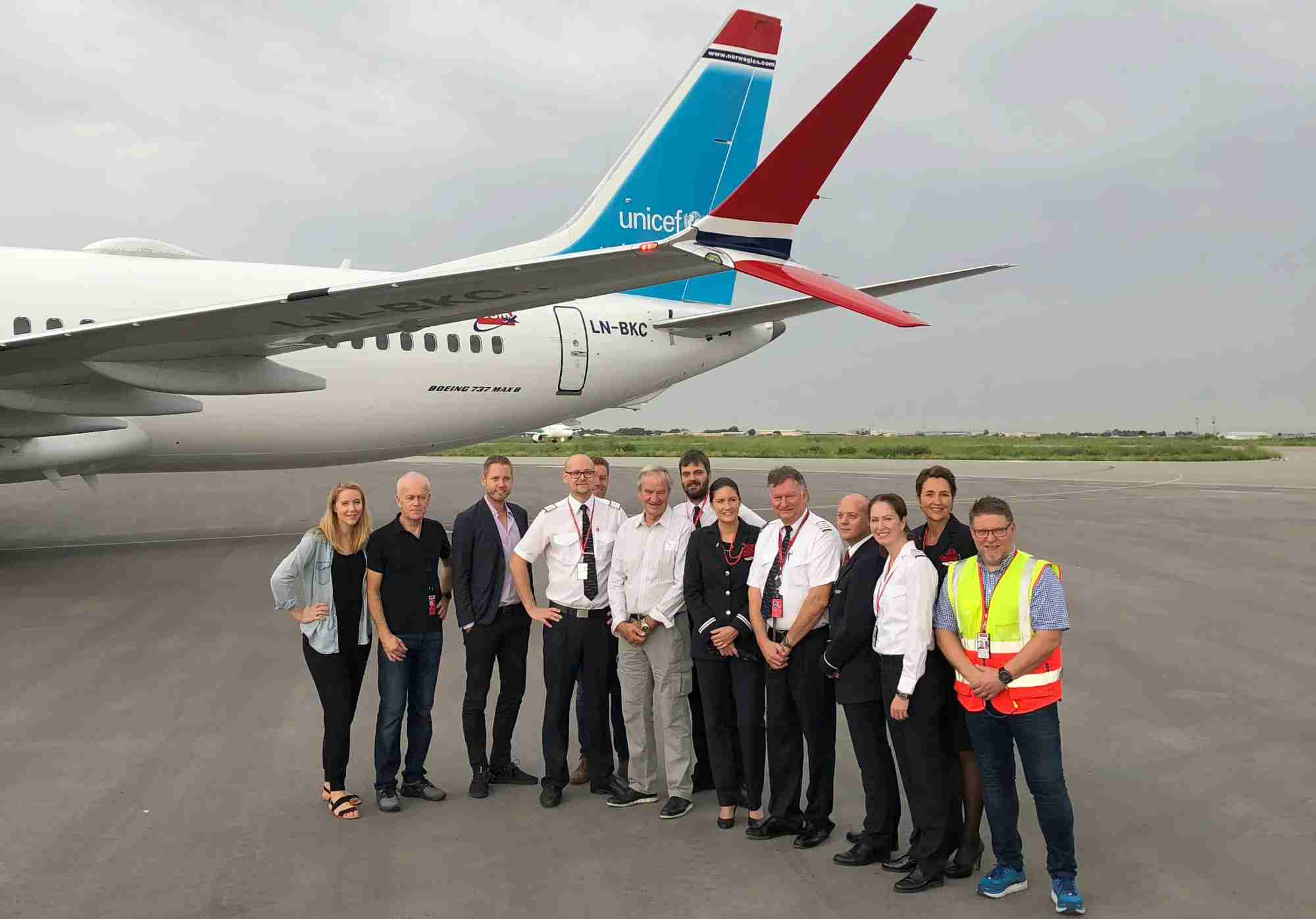 The Norwegian Air Fill-a-Plane team in Chad. Photo by Zach Honig.