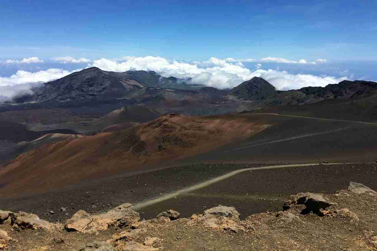 Sliding Sands trail in Haleakala National Park in Maui Hawaii