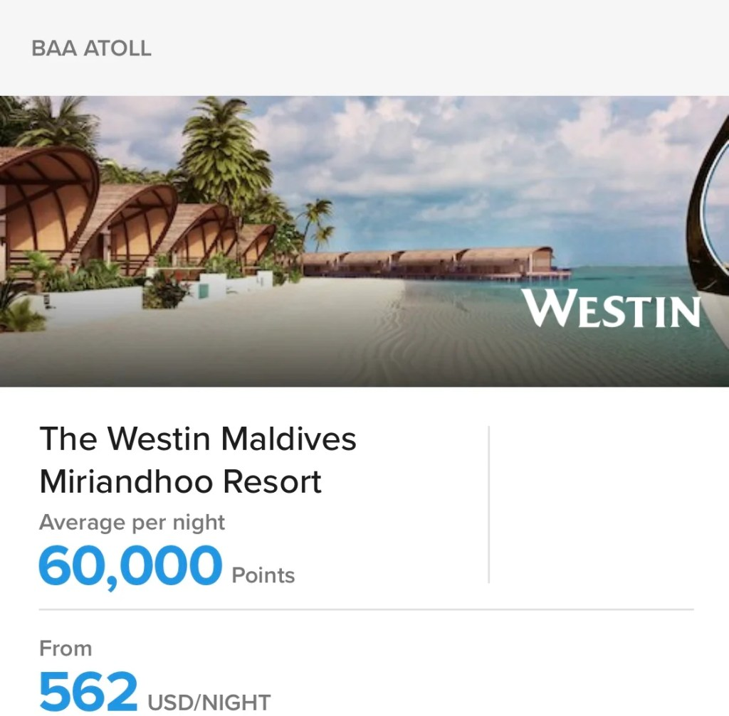 Act Quickly: More Ways to Use Marriott Rewards Points in the Maldives