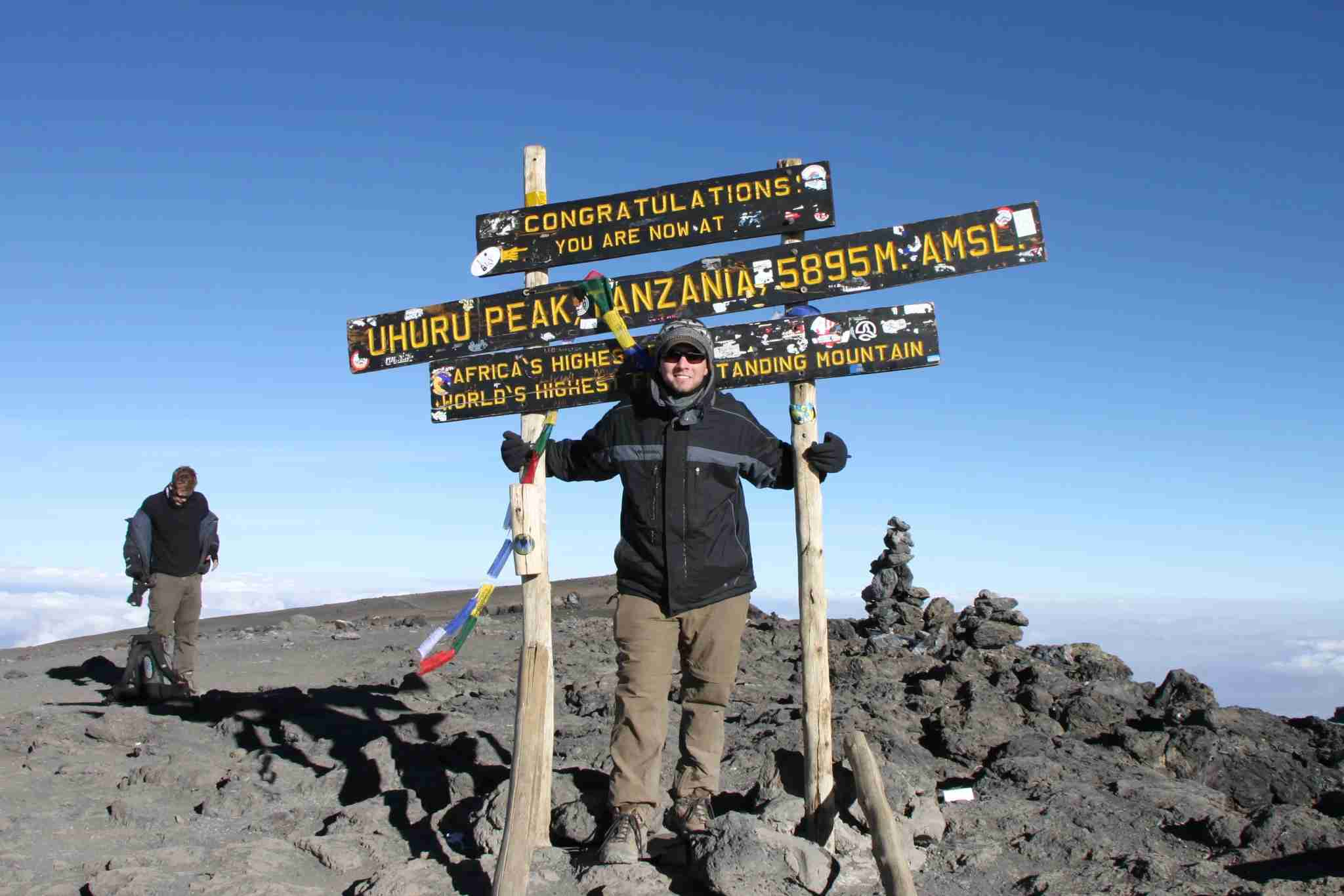 What I looked like at the summit of Kilimanjaro is almost what I looked like walking through security in Zanzibar airport.