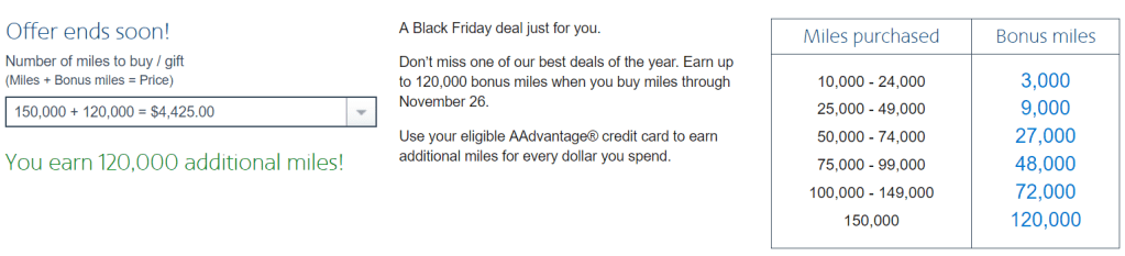 Up To 120k Bonus American Airlines Miles Cyber Monday Promo