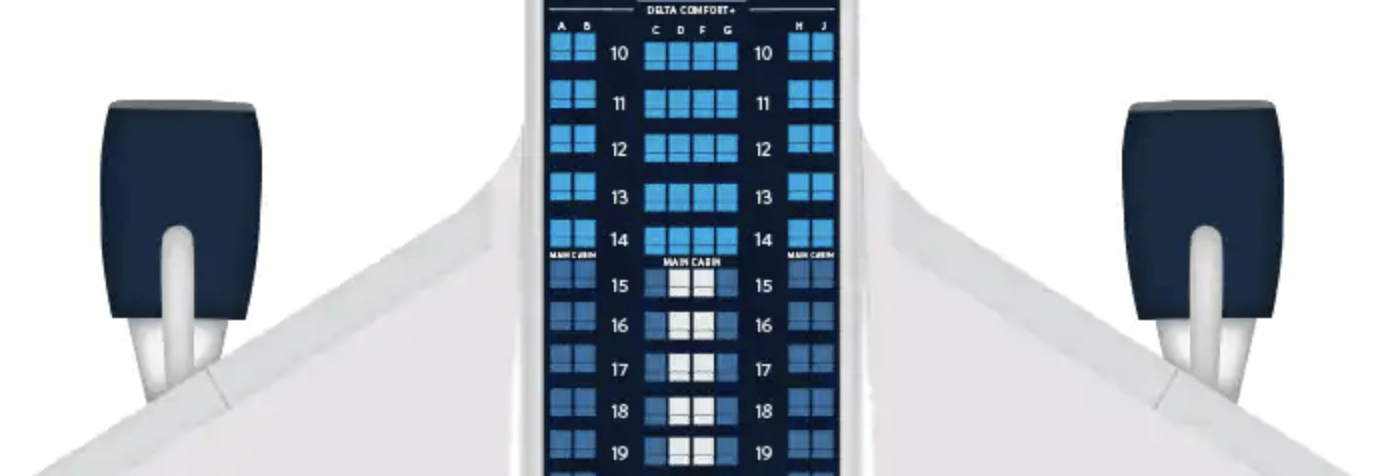 Couples stand a solid chance at sitting privately in Comfort+ onboard Delta