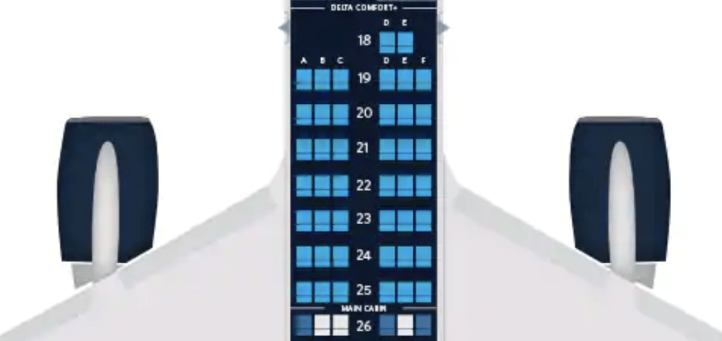 Delta leans heavily on a 3-3 seating configuration across its Boeing 757 fleet