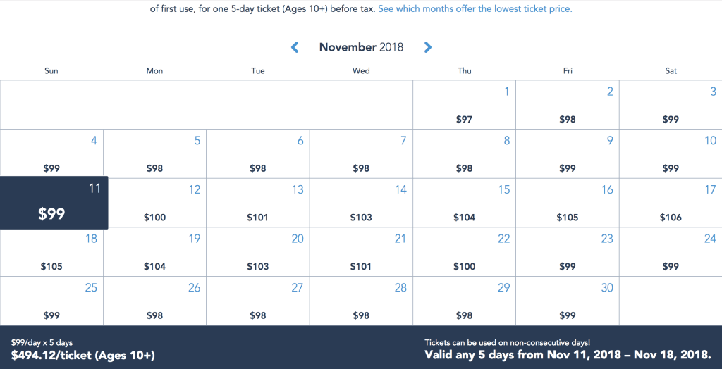 New Disney World Ticket Prices Now in Effect