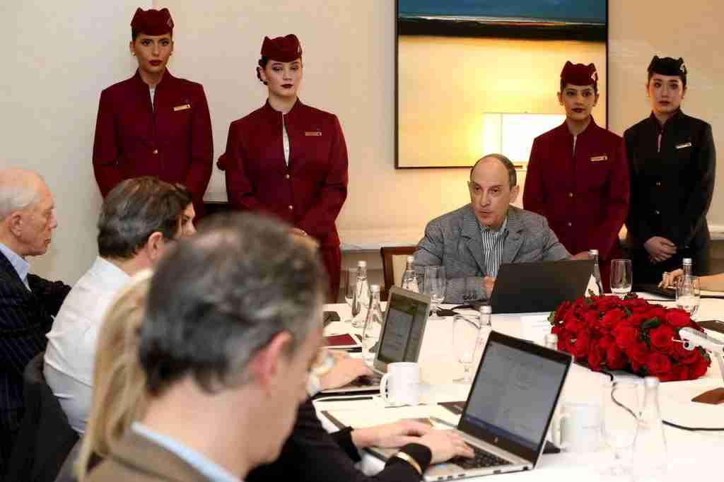 Qatar Airways ceo Akbar al Baker at the Peninsula Hotel in New York, October 18, 2018 (Photo by Qatar Airways)
