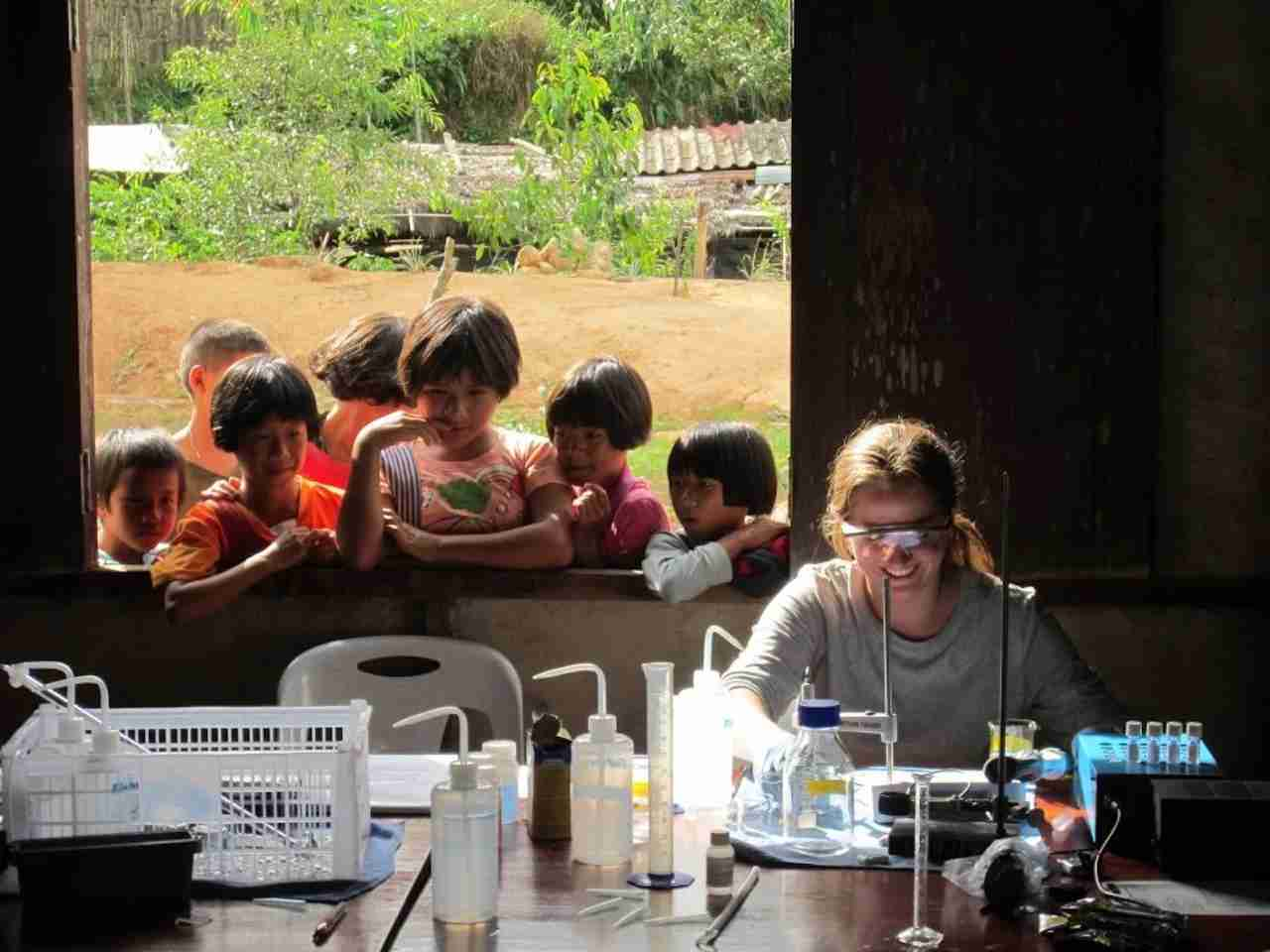 Volunteering in Thailand. Photo courtesy of Engineers Without Borders.