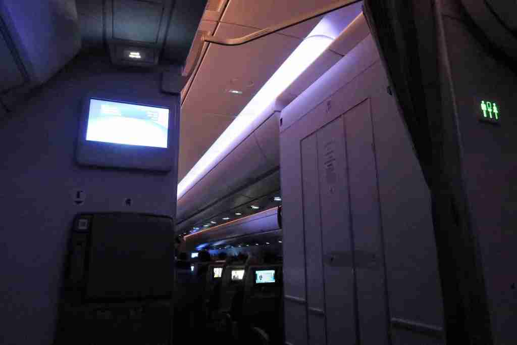 "Flight attendants created an artificial ""sunrise"" three hours before landing."