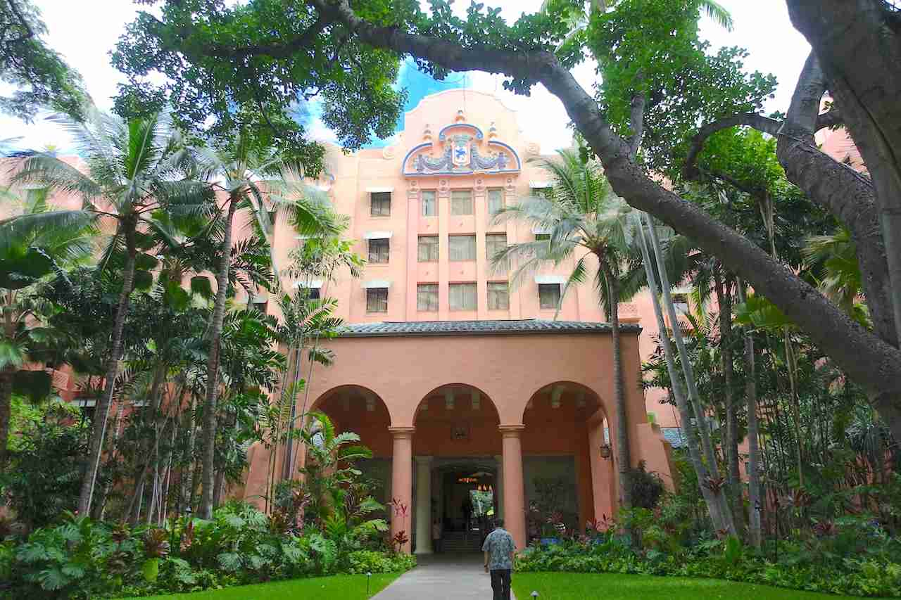 "The Royal Hawaiian, also known as ""The Pink Hotel."" (Photo by Melanie Lieberman / The Points Guy)"