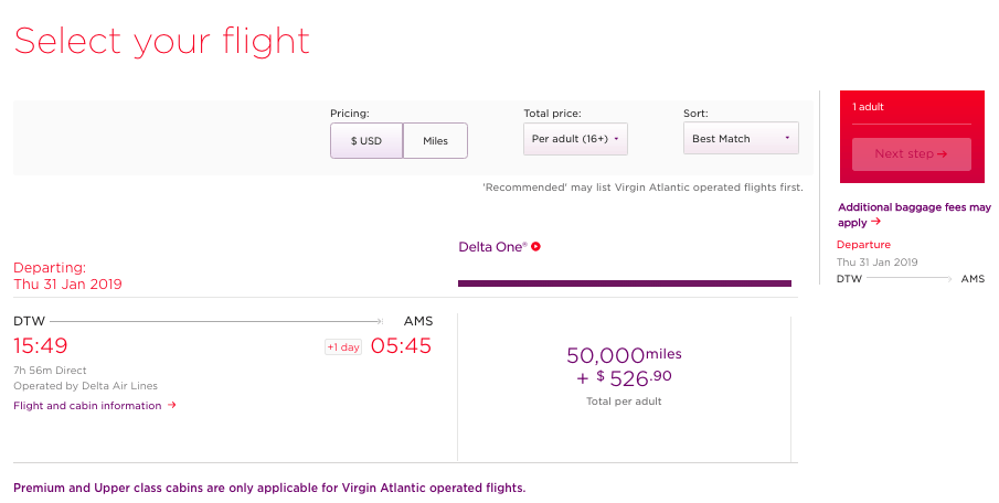 The required miles (50,000) look great for a business class seat, but that fuel surcharge is brutal