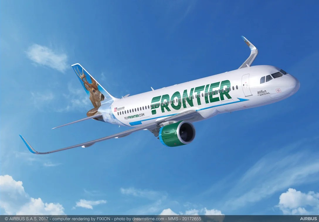 pictures Frontier Airlines passenger opens cabin door on plane