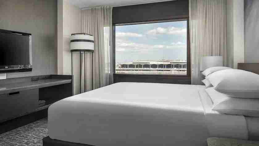 Some Newark Marriott rooms offer a view of the airport. Photo courtesy of the hotel.