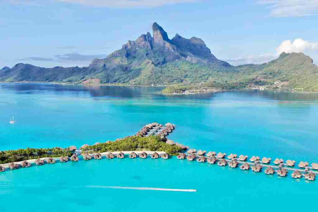 Make bookings now for properties such as the St. Regis Bora Bora