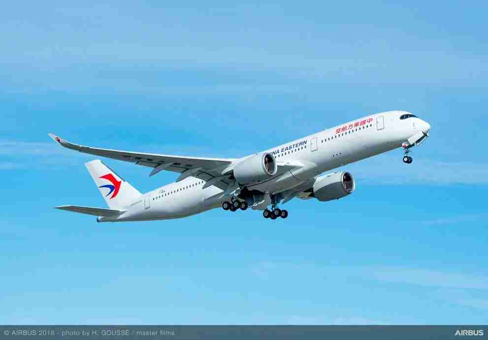 China Eastern A350-900. Image courtesy of Airbus