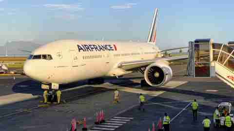 Air France Boeing 777 Business Class Review Tahiti PPT to Los Angeles LAX - Airport