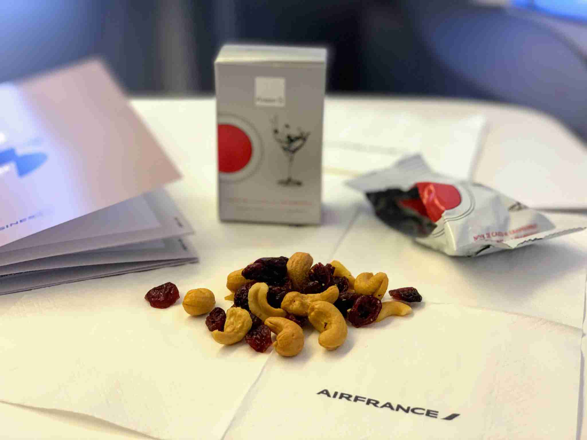 Air France Boeing 777 Business Class nuts