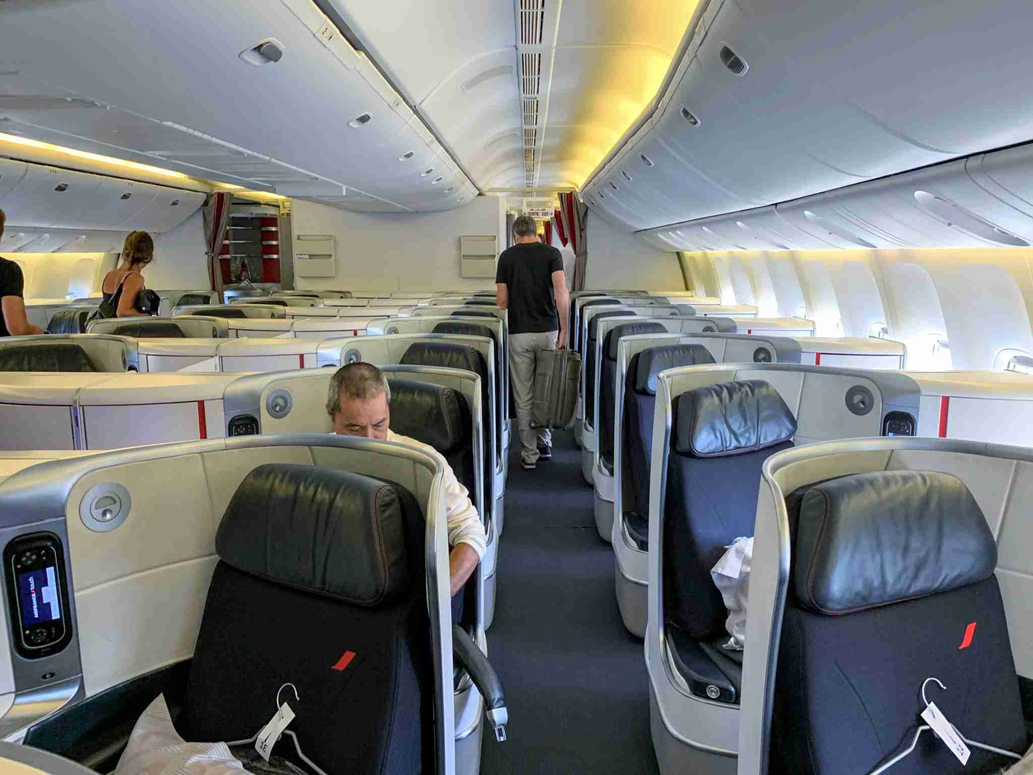 Air France Boeing 777 Forward Business Class Cabin