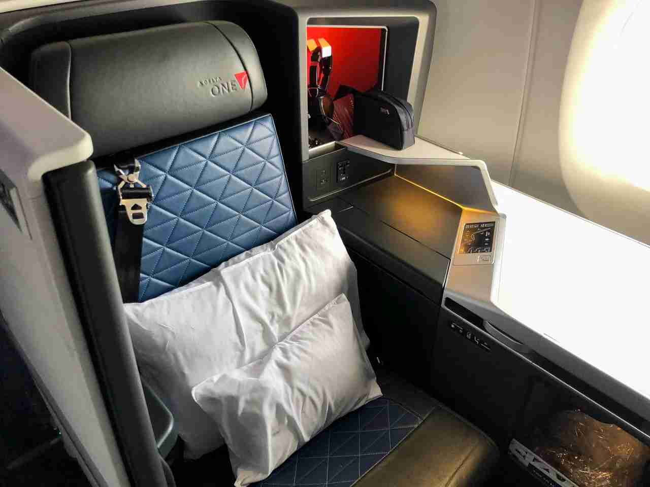 Delta One Suites. Photo by Emily McNutt / The Points Guy)