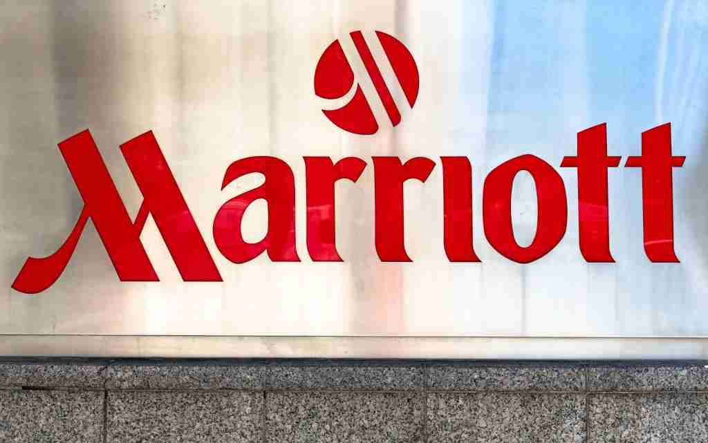 CANADA - 2018/04/21: Sing and logo of the Marriott Hotels and Resorts. The chain is repeatedly voted as one of the best places to work. (Photo by Roberto Machado Noa/LightRocket via Getty Images)