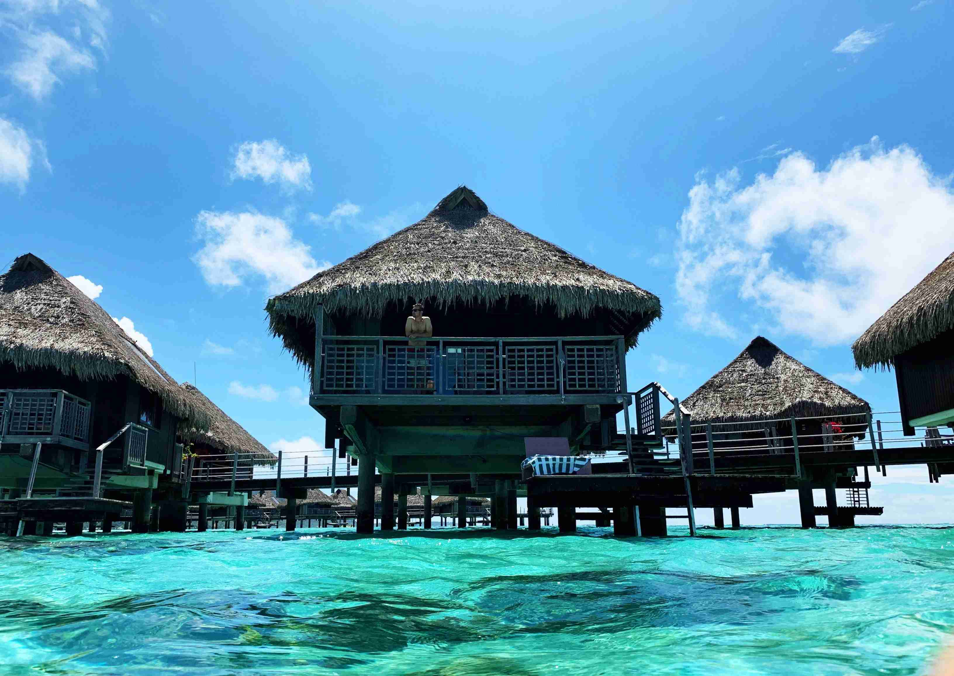 Hilton Moorea Lagoon Resort and Spa - overwater bungalow chilling
