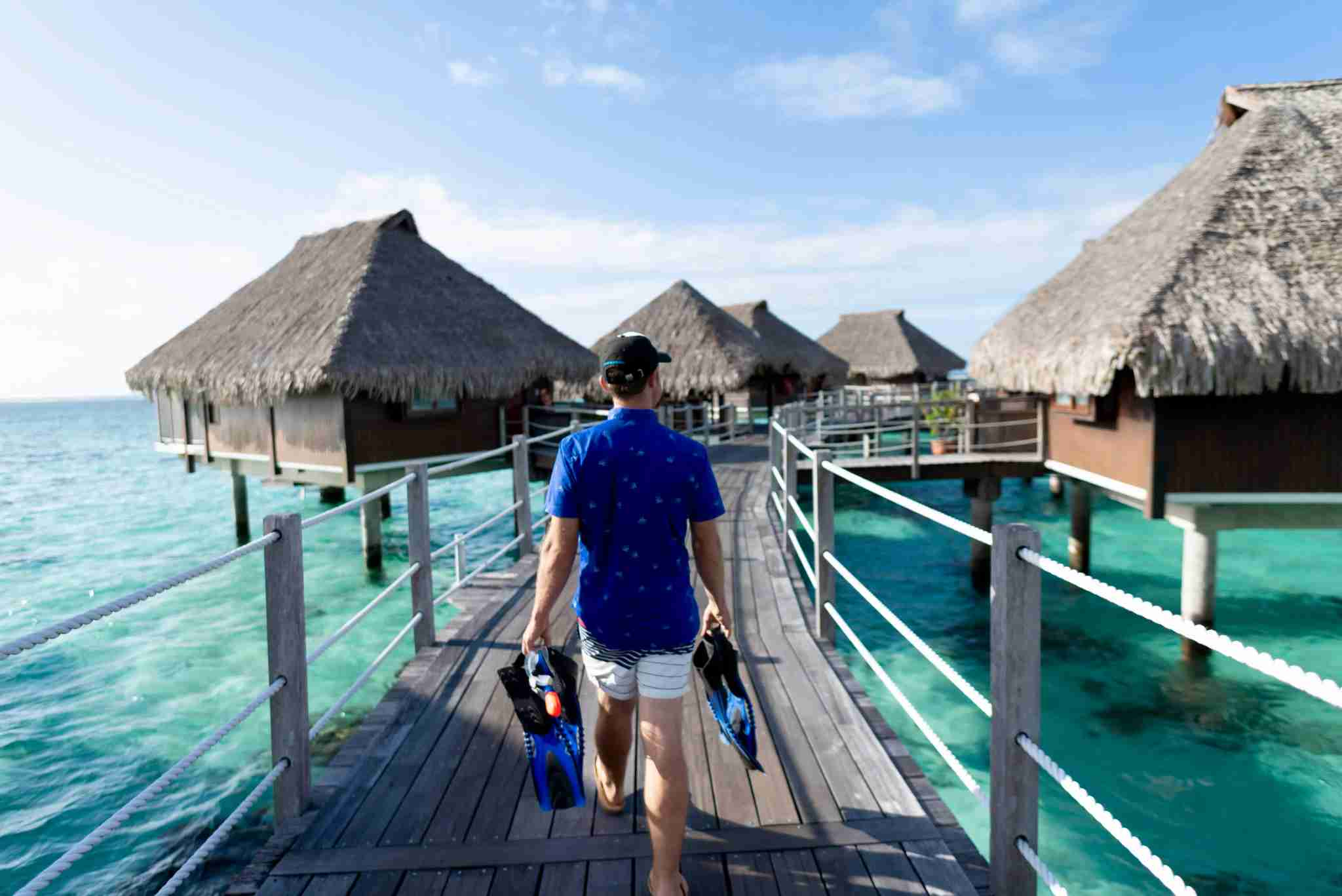 Hilton Moorea Lagoon Resort and Spa - overwater bungalow snorkeling